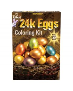 "Easter Unlimited 24 Karat Colored Easter Eggs Deco 12pc 9"" Egg Decorating Kit"