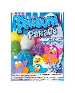 Easter Unlimited Penguin Parade Sugar Crystal 19pc Egg Decorating Kit