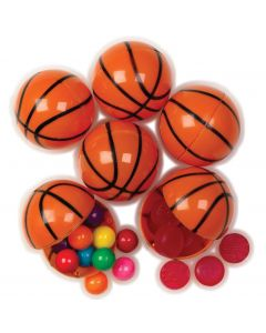 "Basketball Sports Candy Containers 2.25"" Plastic Easter Eggs, Orange Black, 6 Pack"