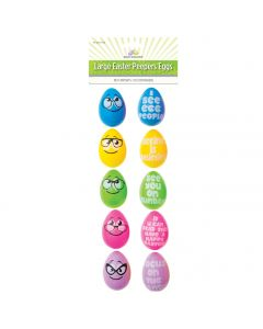 "Funny Face Peeper Glasses Message 2.5"" Plastic Easter Eggs, Assorted, 10 Pack"