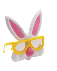 Easter Nerdy Bunny Rabbit Plastic Costume Glasses, One Size, Yellow White