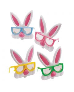 Easter Nerdy Bunny Rabbit Plastic w/ Ears Costume Glasses, One Size