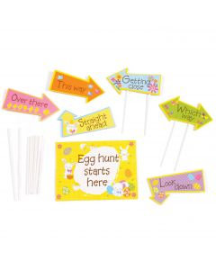 """Easter Unlimited Boxed Outdoor Easter Egg Hunt Kit  22pc 10"""" Outdoor Decor"""