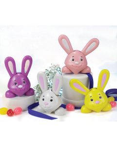 """Easter Unlimited Silly Easter Bunny Bobble 4"""" Wind-Up Toy, Assorted"""