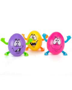 "Walking Crazy Eggs Easter Silly  2"" Wind-Up Toys, Pink Purple Yellow, 3 Pack"