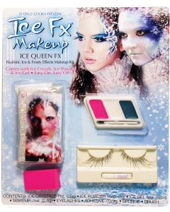 Fun World Ice FX Frozen Queen Makeup Kit 6pc Special Effects Kit, White