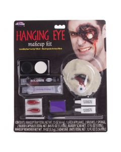 FX Hanging Eye Makeup 11pc Special Effects Kit, .34 oz, Red Pink White