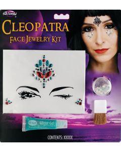 Cleopatra Face Jewelry 4pc Makeup Kit, .17 fl oz, .09 oz, Pink Blue Silver