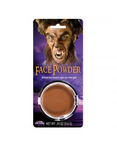 Fun World Halloween Special Effects Pressed Powder Makeup, .34 Oz, Brown