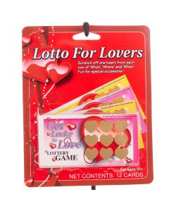 "Fun World Lotto For Lovers Scratch Cards 12pc 4""x2"" Adult Coupons, Red Multi"