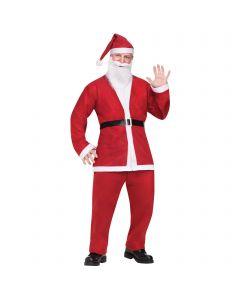 Pub Crawl Santa Claus Suit Christmas Party 5pc Men Costume, Std 40-48, Red White