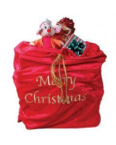 "Fun World Santa Sack with Drawstring Toys Christmas Gift Bag, 36"", Red"