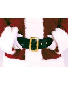 "Fun World Deluxe Santa Claus Costume Belt, One Size 61"", Black Gold"