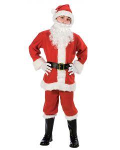 Fun World Child Fleece Santa Suit Boy Costume, Medium 8-10, Red White