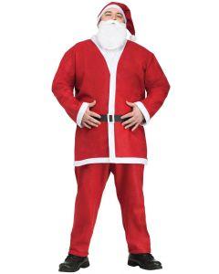 Pub Crawl Santa Claus Suit Christmas Party 5pc Men Costume, Plus Size, Red White