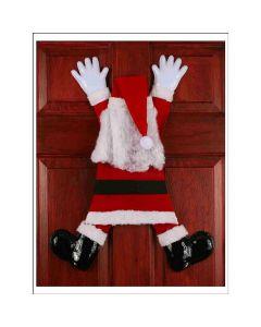 "Fun World Christmas Wrong Way Santa Claus Door Decoration, 31"", Red White"