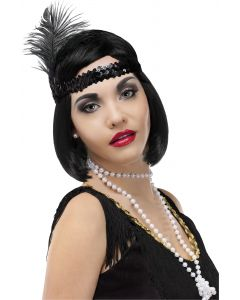 Fun World Halloween 20's Flapper 3pc Accessory Kit, One-Size, Black White