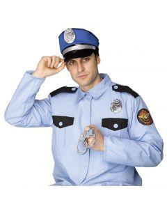 Fun World Police Man 3pc Costume Accessory Kit, One-Size, Blue Black Silver