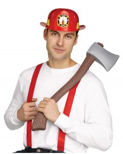 Firefighter Save the Day Tools 3pc Costume Accessory Kit, One-Size, Red