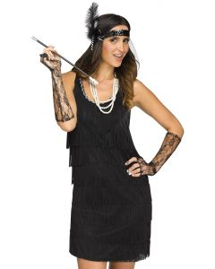 Fab Flapper 1920's Headband, Necklace, Cigarette, & Gloves 4pc Accessory Kit