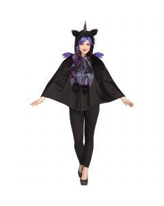 Mystic Dark Unicorn Fantasy Poncho Adult Costume, One-Size, Black Purple