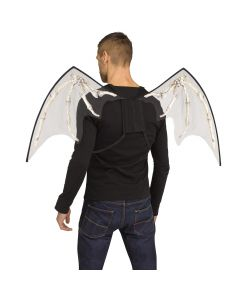 Fun World Halloween Skeleton Bone Costume Accessory Wings, One-Size, White