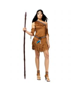 Halloween Wizards Extra Tall Wooden Look Costume Prop Staff, 62'', Brown