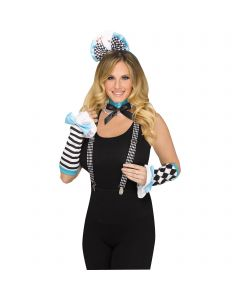 Wild Wonderland 3pc Adult Costume Accessory Set, One-Size, Blue Black White