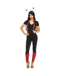 Fun World Lady Bug 3pc Women Costume Accessory Set, One-Size, Red Black