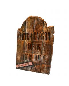 "Fun World Wood Looking Tombstone Butch Carson Tombstone, 21.75"", Brown"