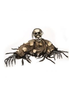 "Fun World Halloween Life Size Undead Grave Breaker Decoration Prop, 45"", Black"