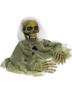Halloween Life Size Undead Grave Breaker Decoration Prop, 45'', Moss Green