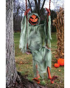 "Fun World Halloween Pumpkin Halloween Decoration Outdoor Prop, 60"", Orange Green"