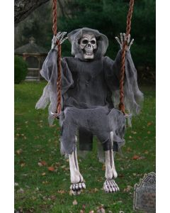 "Fun World Halloween Swinging Reaper Decoration Outdoor Prop, 36"", Grey Black"