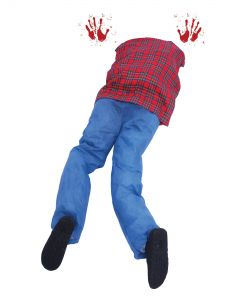 "Fun World Garage Guillotine Halloween 3pc Outdoor Decor, 40"", Red Blue"