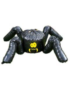 Fun World Giant Halloween Spider Leaf Bag 2pc 7 feet Outdoor Decor, Black