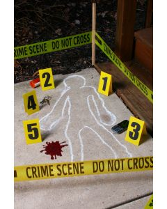 Fun World Crime Scene Kit 4pc Decoration Pack, Yellow Black Red
