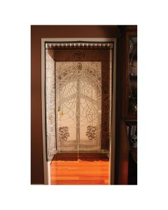 "Fun World Lace Spiderweb Window Hanging Door Cover, 36""x65"", Black"