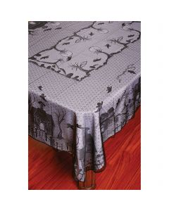 "Fun World Lace Tablecloth Haunted House Fabric Table Cloth, 60"" x 84"", Black"