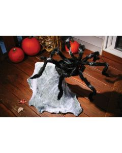 "Fun World Electronic Giant Jumping Spider Animated Prop, 36"", Black White"