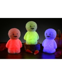 "Fun World Color L.E.D Mummy Lights LED Centerpiece, 3.5"", White Red Green"