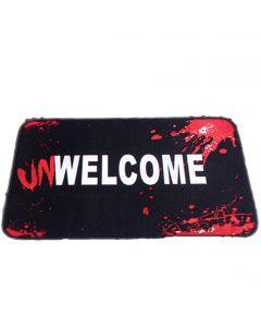 """UnWelcome Dead Inside Halloween Decoration Door Mat, 23"""", Black Red White"""