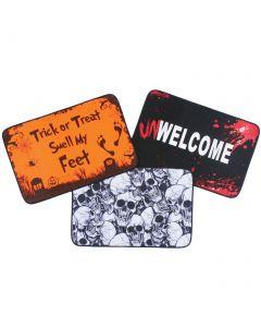 "Fun World Scary UnWelcome Halloween Decoration Door Mat, 23"""