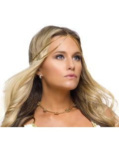 Fun World Halloween Goddess Headpiece Headpiece, One-Size, Gold