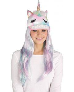 Unicorn Sequin Halloween Animal Baseball Costume Hat, One-Size, Pastel Rainbow