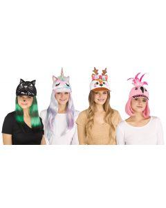 Fun World Halloween Classic Animals Accessory Costume Hat, One-Size, Multi