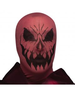 Fun World Halloween Demon Devil Scary Horror Stocking Mask, One-Size, Red