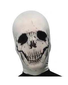 Fun World Halloween Horror Skull Skeleton Stocking Mask, One-Size, White