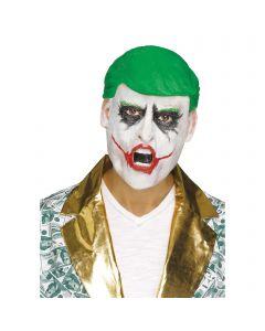 Political Trump Joker Combover Clown President Over Head Mask, One Size