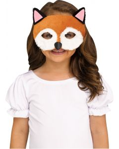 Halloween Furry Animal Fox Fabric Costume Face Mask, One-Size, Brown White